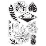Hero Arts - BasicGrey - South Pacific Collection - Clear Acrylic Stamps - Enjoy The Journey