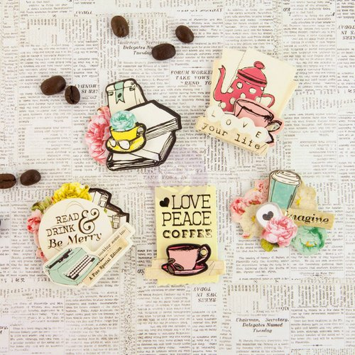 Prima - Coffee Break Collection - 3 Dimensional Stickers