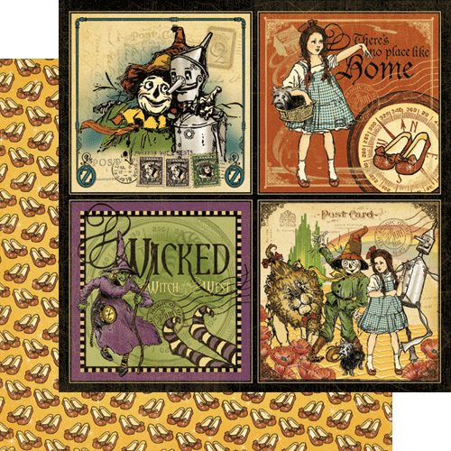 Graphic 45 The Magic Of Oz Collection 12 X 12 Double