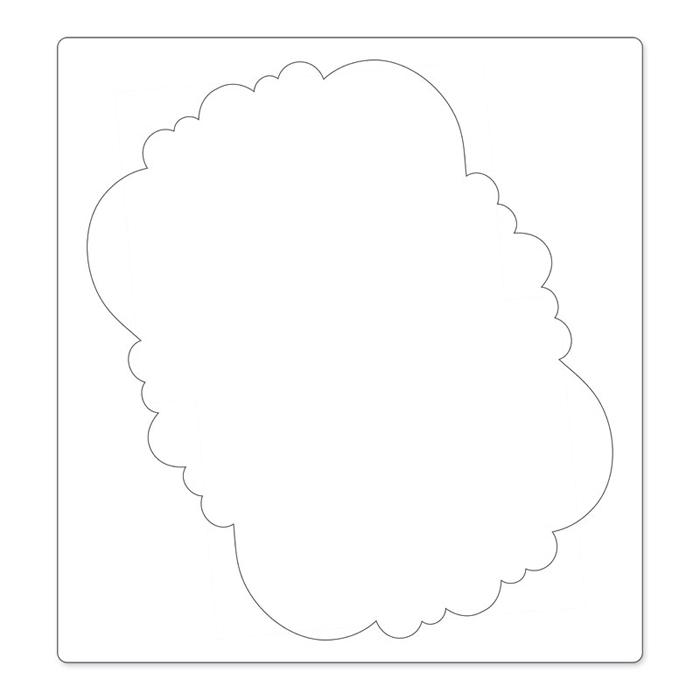 Sizzix Ornate Frame Bigz Pro Die Cutting Template