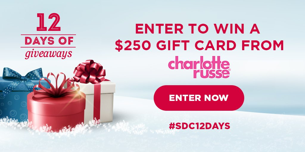 Win a gift card from Charlotte Russe!