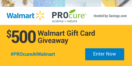 Enter to win a $50 Walmart gift card!