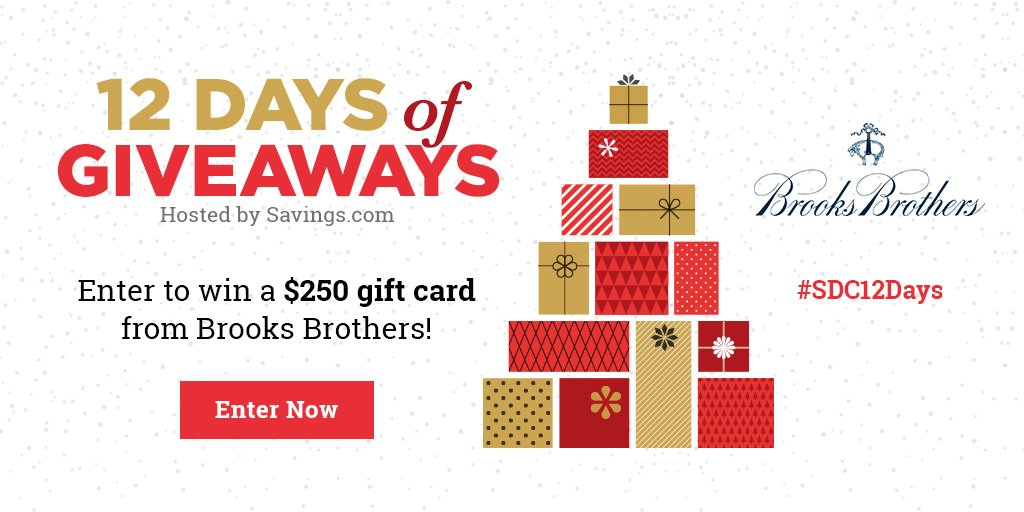 Win a $250 gift card from Brooks Brothers!