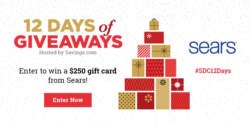 Win a $250 gift card from Sears!
