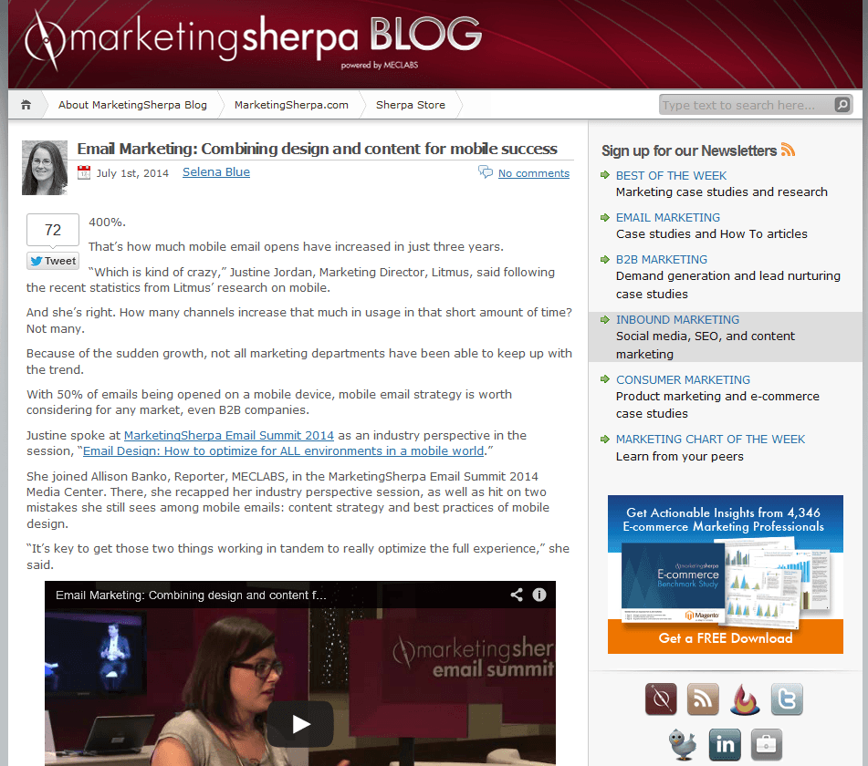 2014 07 02 20 42 03 MarketingSherpa Blog SEOlympics: Best Marketing Blogs of the US East