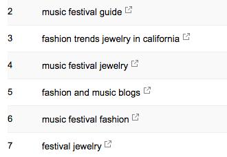keywords google search console