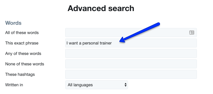 Twitter Advanced Search Words