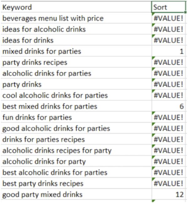 Excel find