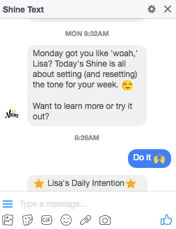 Shine Text
