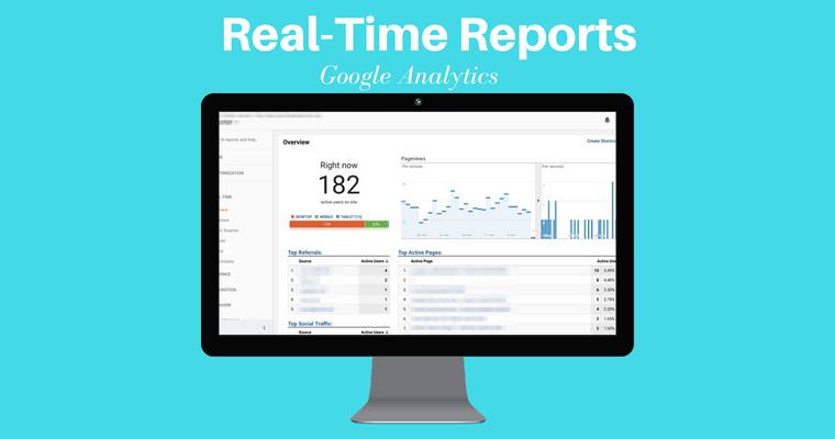 جوجل تحليلات تقارير الوقت الحقيقي