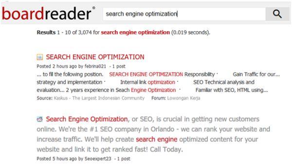 Boardreader Search