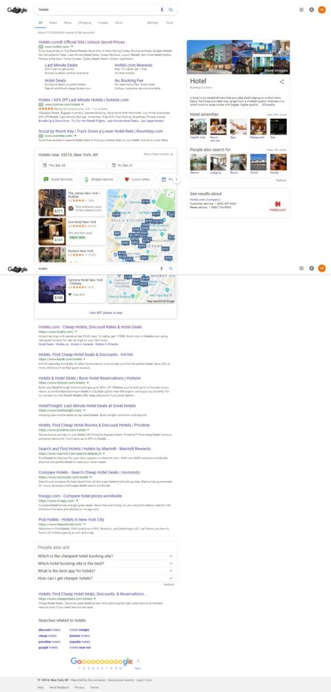 Hotels SERPs