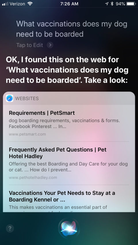 Pet Hotel Hadley FAQ Pages - Siri
