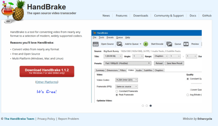 handbrake screenshot