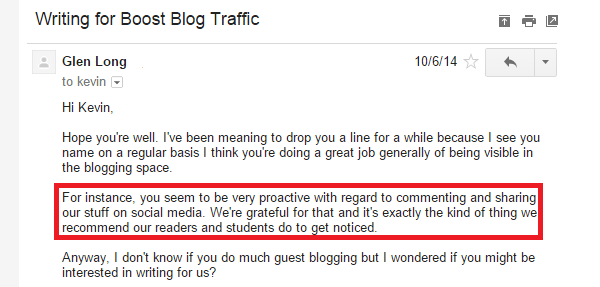 Guest blogging email