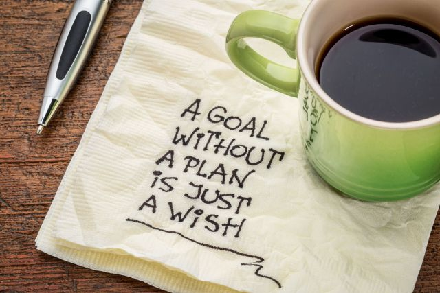 A goal without a plan is just a wish written on a napkin