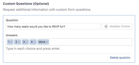 Facebook Lead Gen Ads - Head Count for RSVP