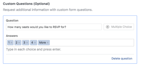 Facebook Lead Gen Ads - Head Count for RSVP