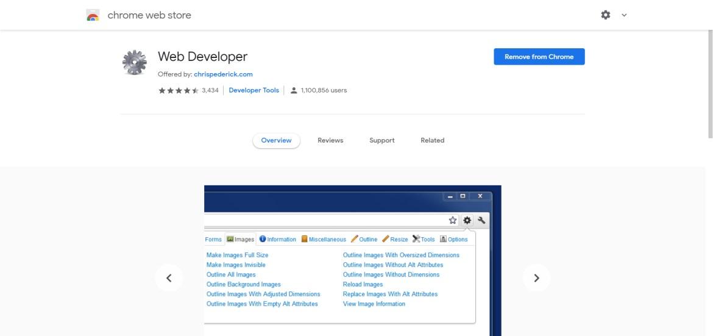 addon called Web Developer