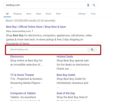 Best Buy Website Schema example
