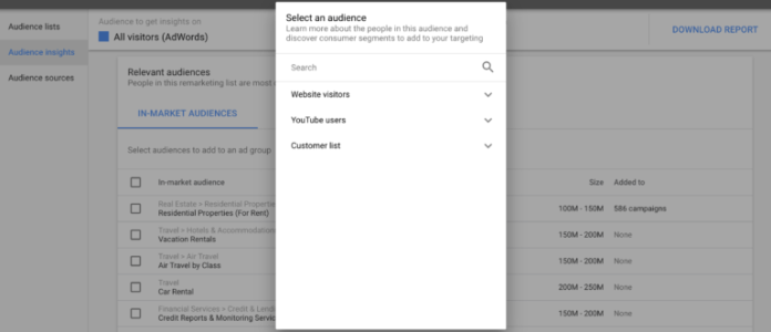 Google Ads - Audience Insights Picker
