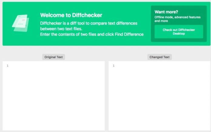 Diffchecker screenshot