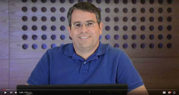 Screenshot of Google's Matt Cutts on YouTube discussing what pure spam is