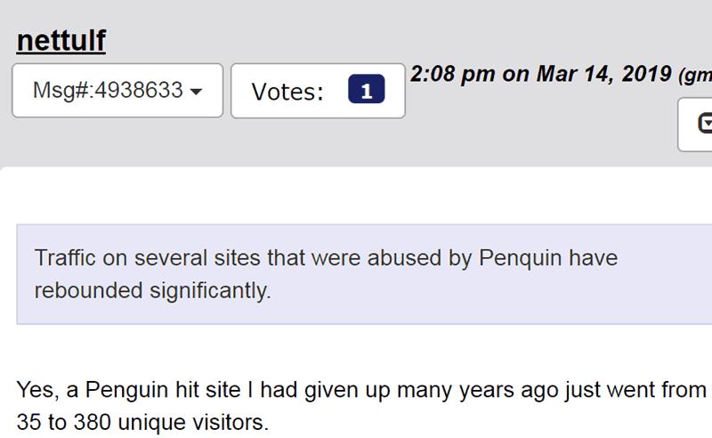 Screenshot of a WebmasterWorld post