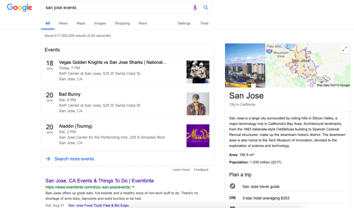 San Jose Events Search