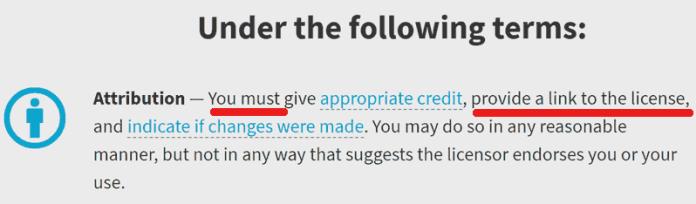 Screenshot of Creative Commons