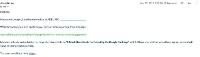Getting to Links: 5 Tips for Successful Email Outreach