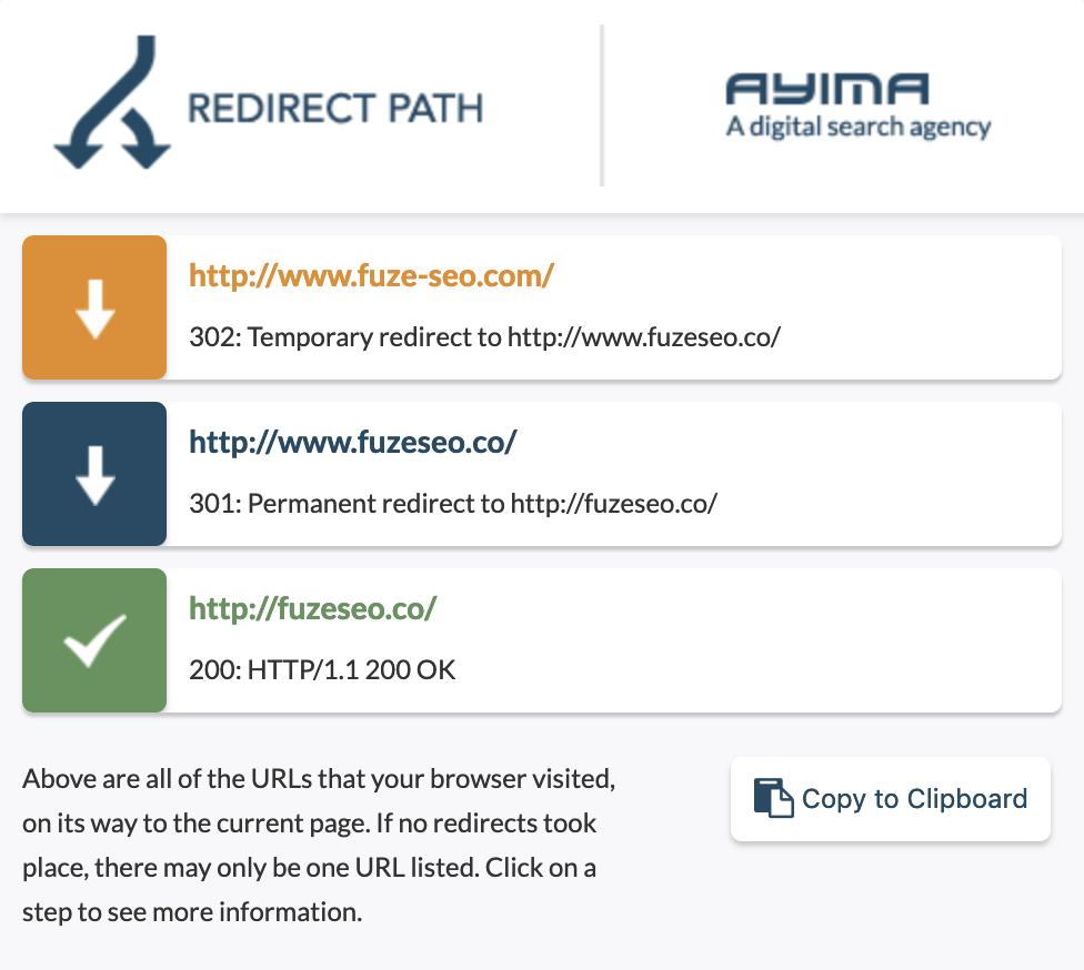 Redirect Path