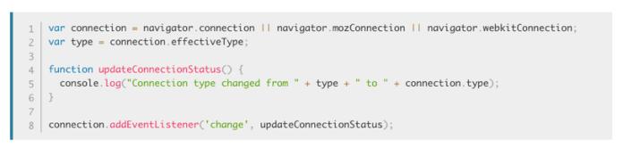 Network Information API code example