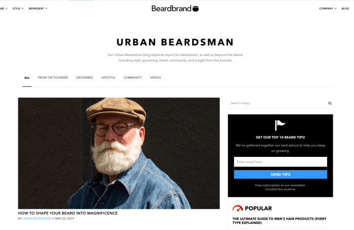 urban beardsman