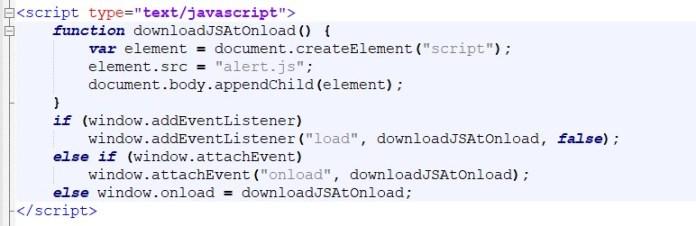 JavaScript Onload Event