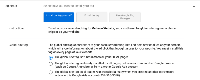 Set Up Call Tracking Tag