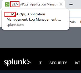 Splunk SIEM title tag