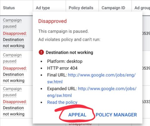 Google Ads Makes it Easier to Appeal Disapproved or Limited Ads