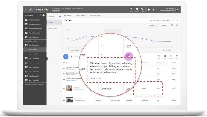 Google Ads Improves Asset Reporting for App Campaigns With 4 New Updates