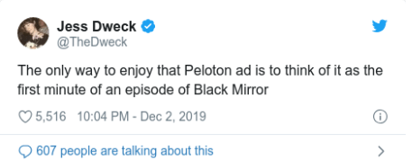 Peloton ad response