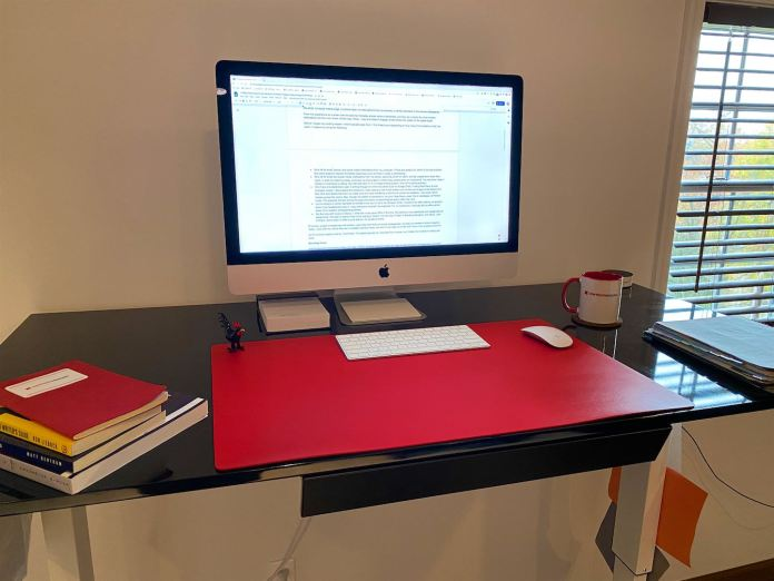 stand up desk helps keep energy levels high for better writing