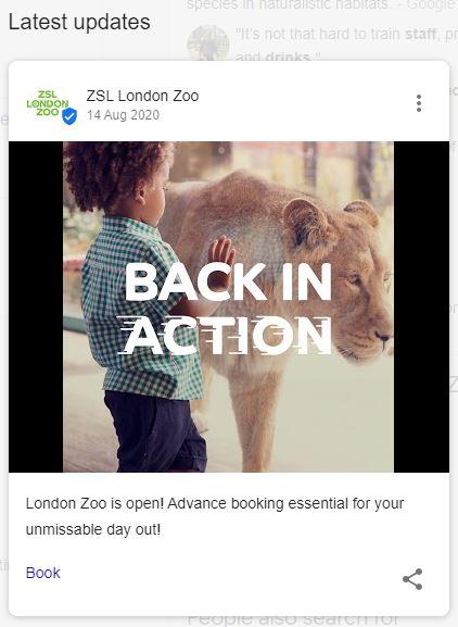 حديقة حيوان لندن جوجل بوست