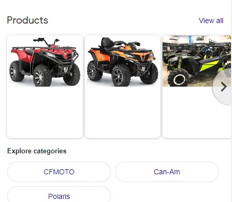 GMB Product Listings