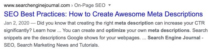 Search Engine Journal meta description