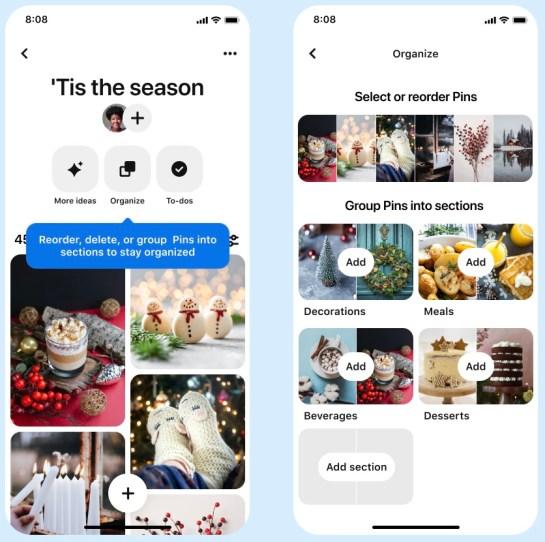 لوحات Pinterest المحدثة بثلاث ميزات جديدة