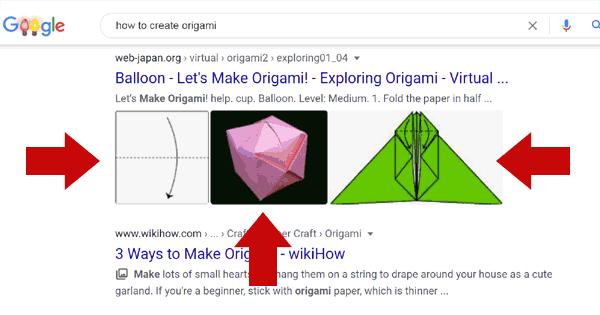 لقطة شاشة تعرض الصور في نتائج بحث جوجل