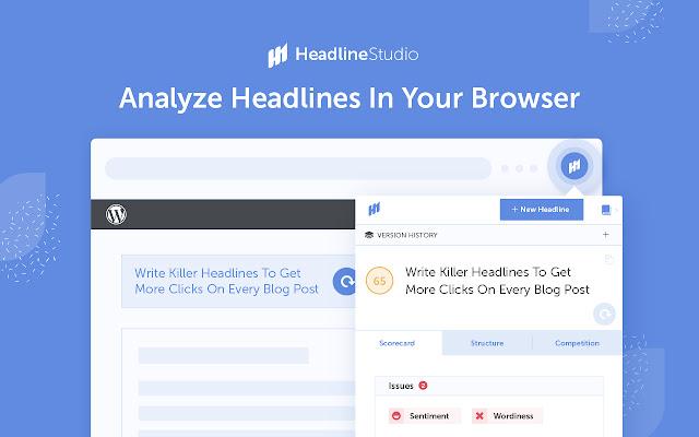 Homepage of Headline Studio by CoSchedule.
