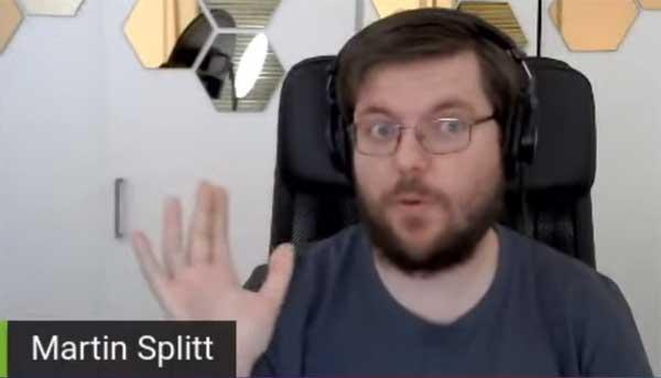 Screenshot from video of interview with Google's Martin Splitt