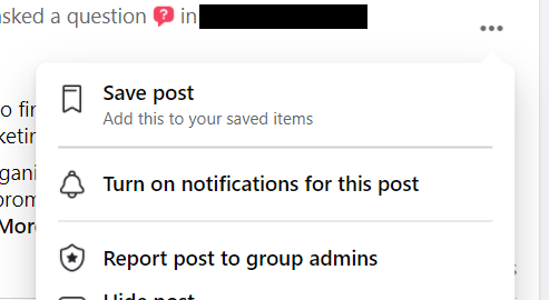 You can save posts to read later.