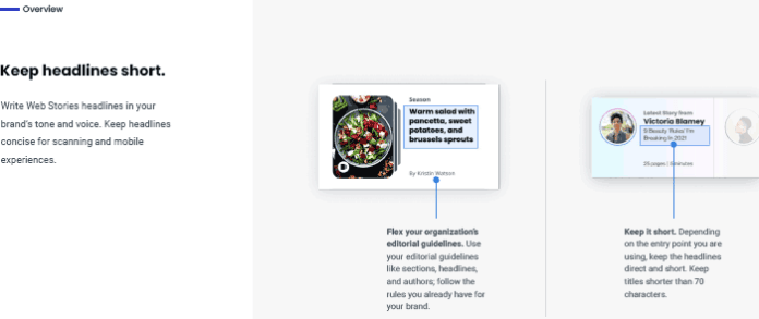Screenshot of Web Stories Overview